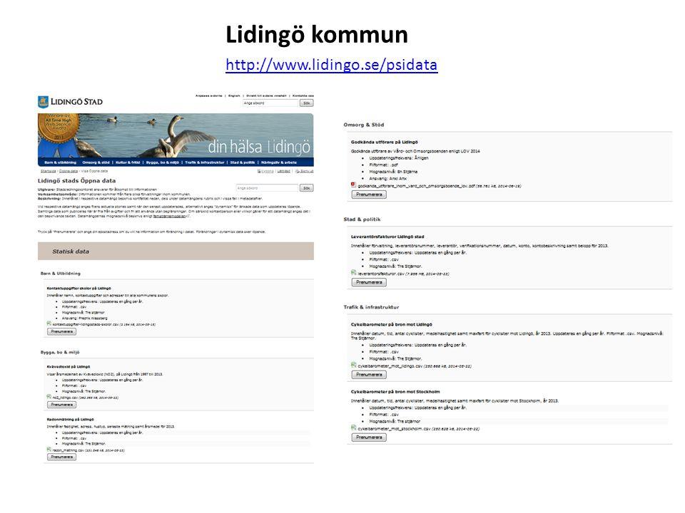 Lidingö kommun http://www.lidingo.se/psidata