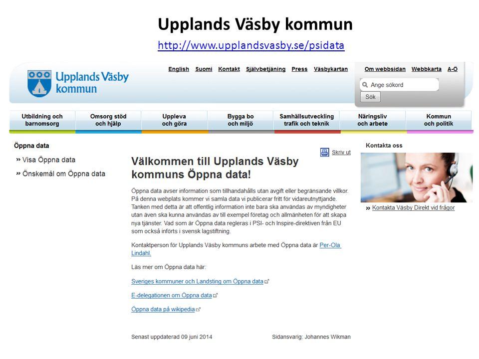 Upplands Väsby kommun http://www.upplandsvasby.se/psidata