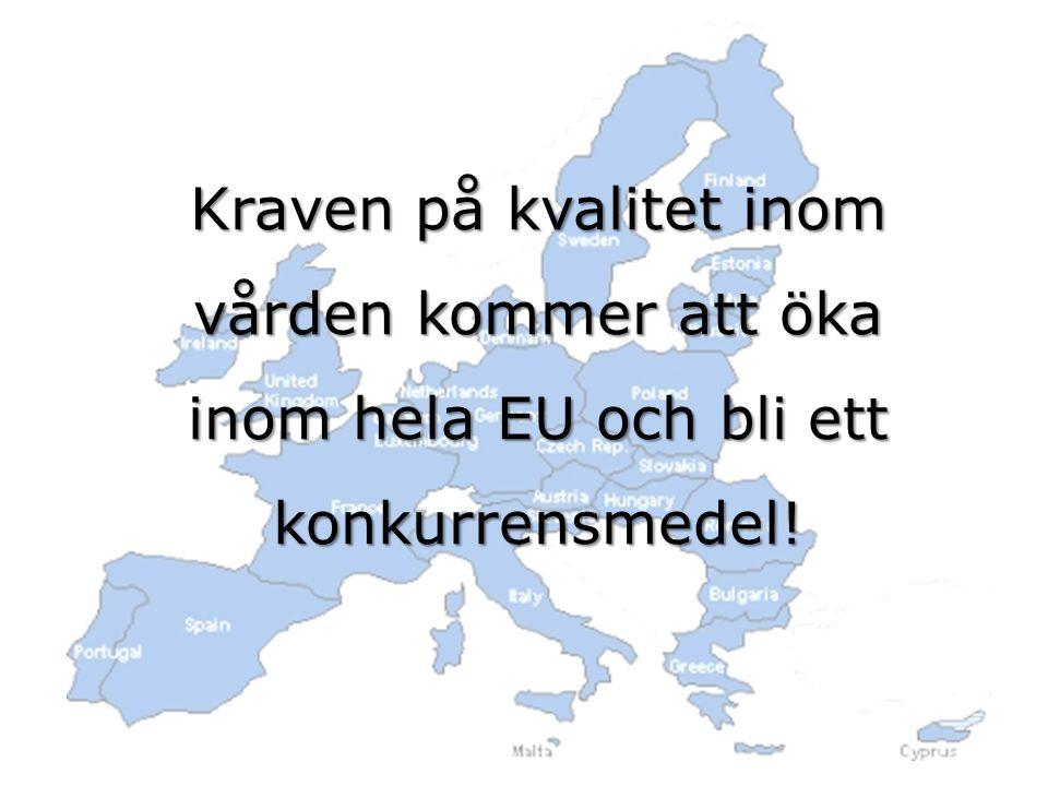 Kraven på kvalitet inom vården kommer att öka inom hela EU och bli ett konkurrensmedel!