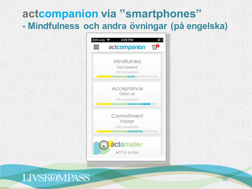 """actcompanion via """"smartphones"""" - Mindfulness och andra övningar (på engelska) 55"""