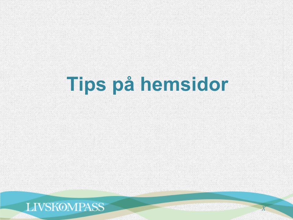X Tips på hemsidor