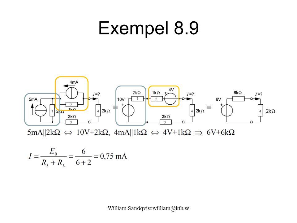 William Sandqvist william@kth.se Exempel 8.9