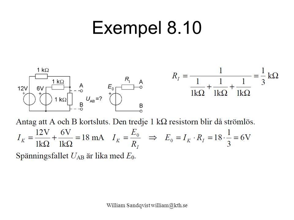 William Sandqvist william@kth.se Exempel 8.10