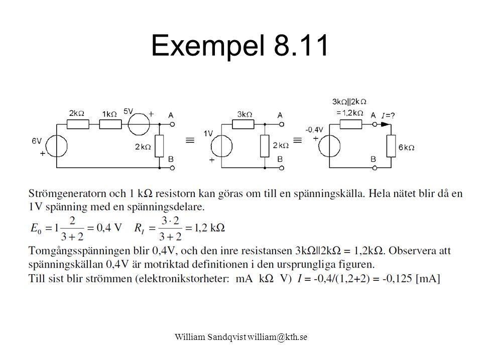 William Sandqvist william@kth.se Exempel 8.11