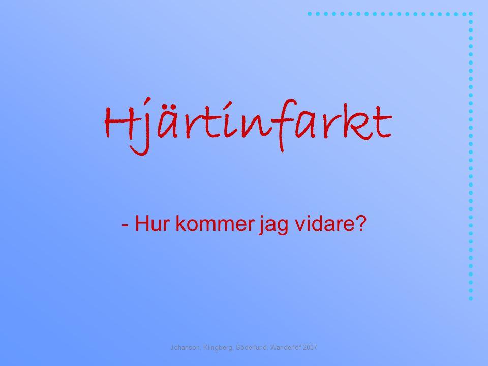 Johanson, Klingberg, Söderlund, Wanderlöf 2007 Hjärtinfarkt - Hur kommer jag vidare