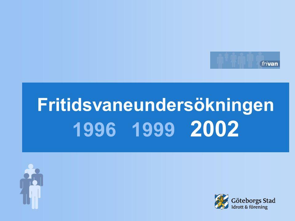 Fritidsvaneundersökningen 19961999 2002