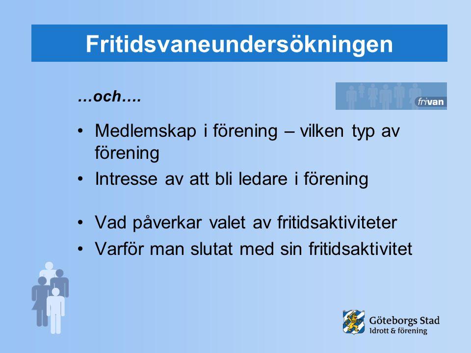 Fritidsvaneundersökningen …och….