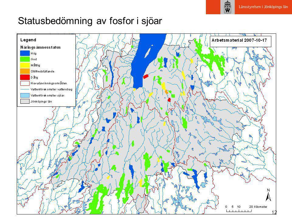 12 Statusbedömning av fosfor i sjöar