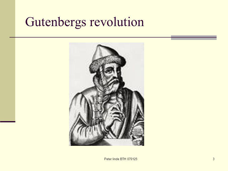 Peter linde BTH 0701253 Gutenbergs revolution