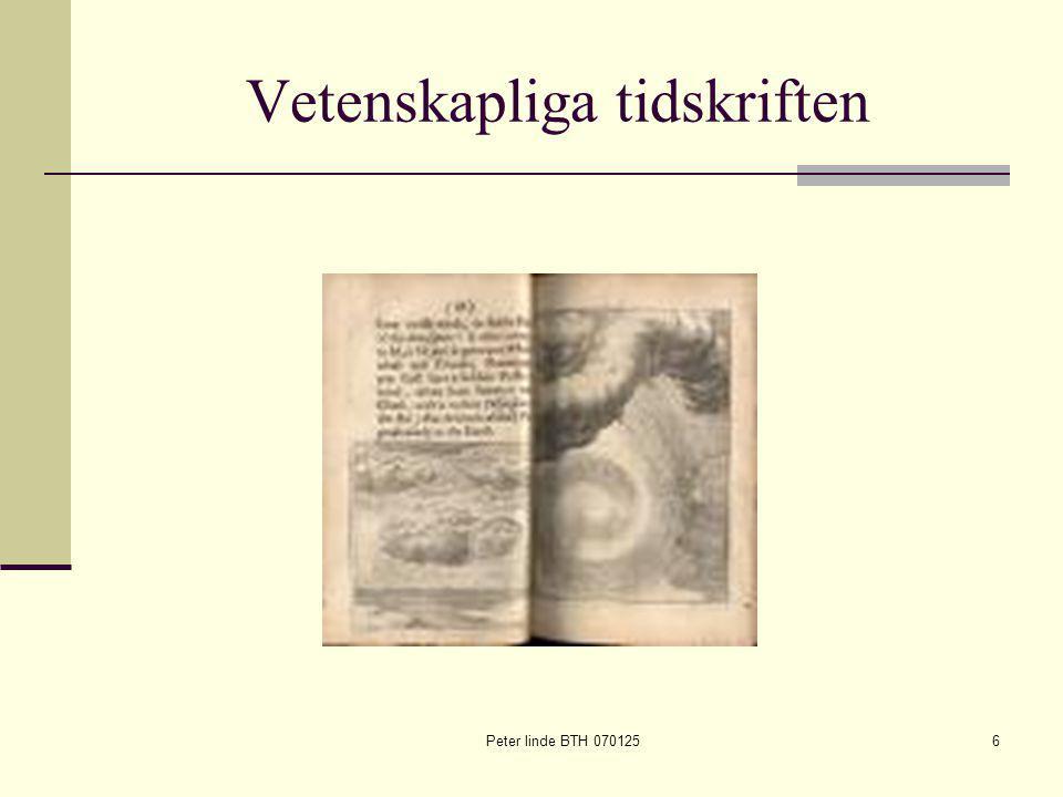 Peter linde BTH 0701256 Vetenskapliga tidskriften