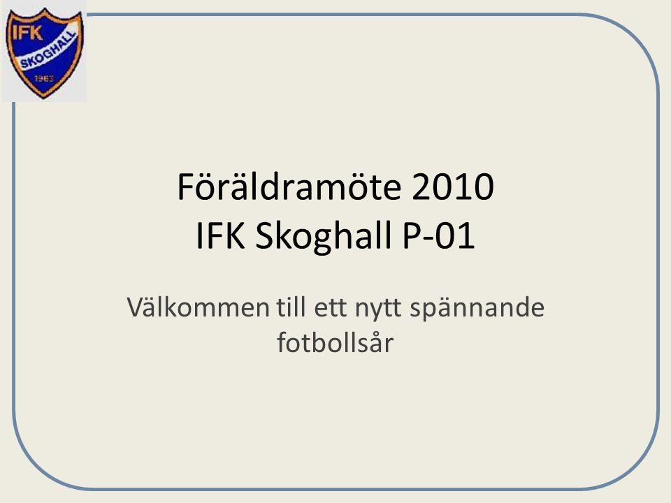Föräldramöte 2010 IFK Skoghall P-01 Välkommen till ett nytt spännande fotbollsår