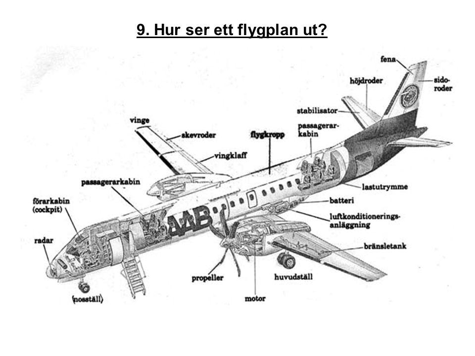 9. Hur ser ett flygplan ut?