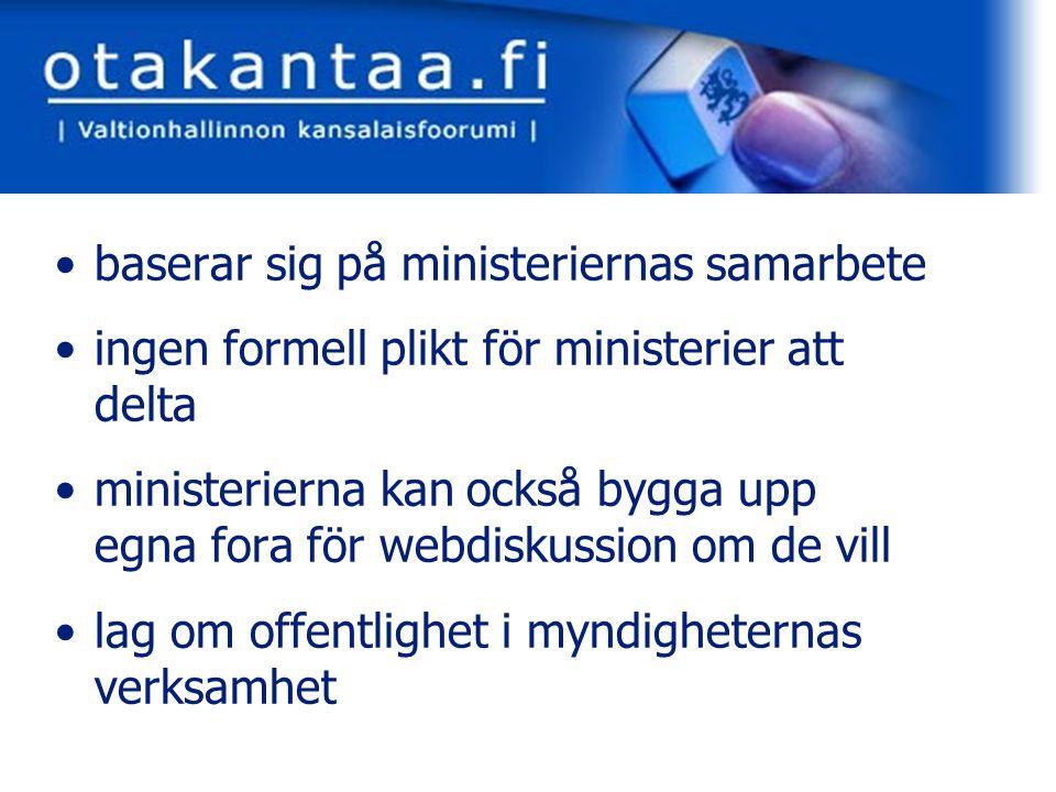 www.otakantaa.fi redaktionen för forumet finns vid finansministeriet ett sammandrag publiceras efter varje avslutad diskussion sammandraget bifogas till projektets beredningsdokument länkar till bakgrundsdokument och övrigt material alla diskussioner på arkivsidan