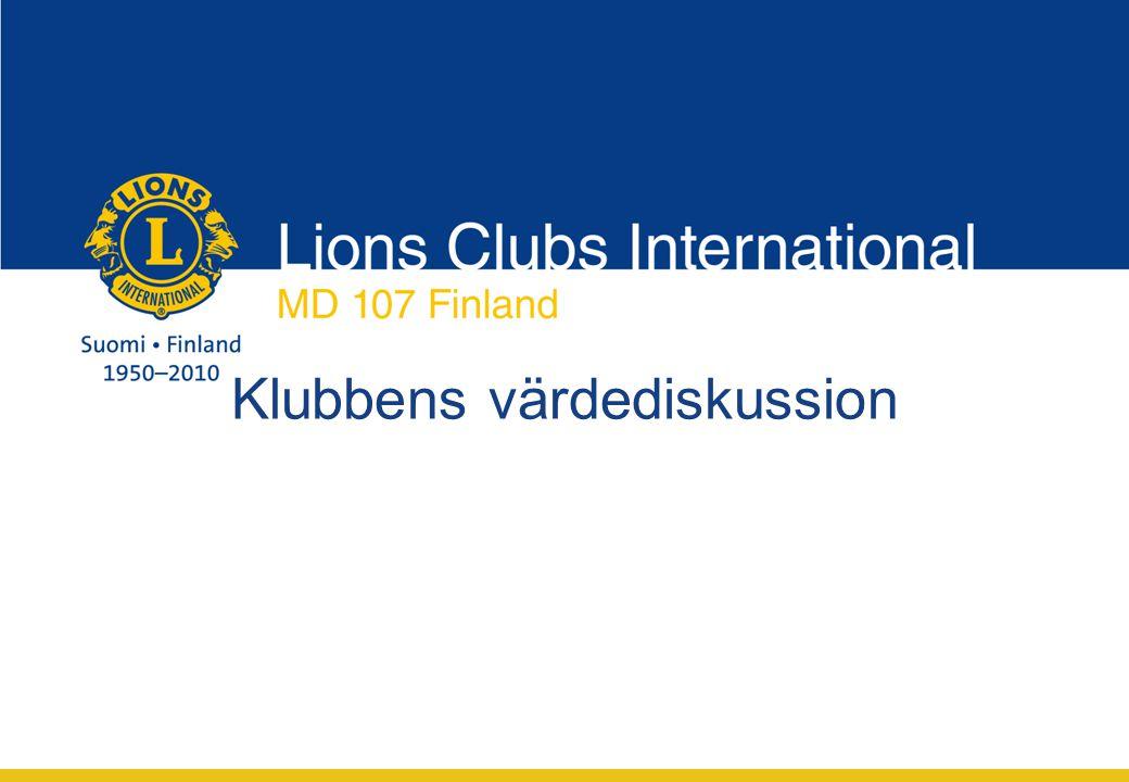 Klubbens värdediskussion