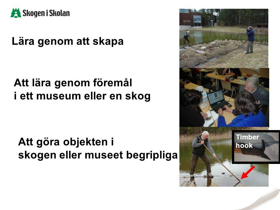 Lära genom att skapa Att lära genom föremål i ett museum eller en skog Att göra objekten i skogen eller museet begripliga
