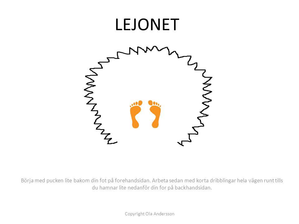 """LIGGANDE-ÅTTAN För pucken som en """"liggande"""" 8:a. Se till att arbeta med """"mjuka"""" händer och var följsam med den nedre handen. Copyright Ola Andersson"""