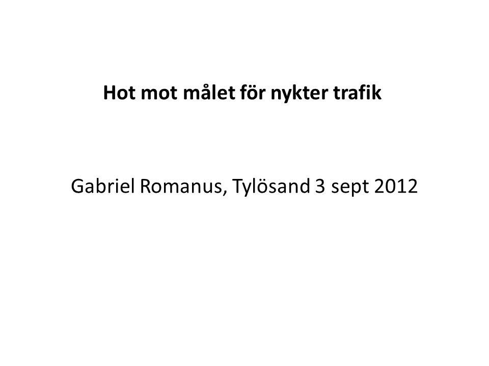 Hot mot målet för nykter trafik Gabriel Romanus, Tylösand 3 sept 2012