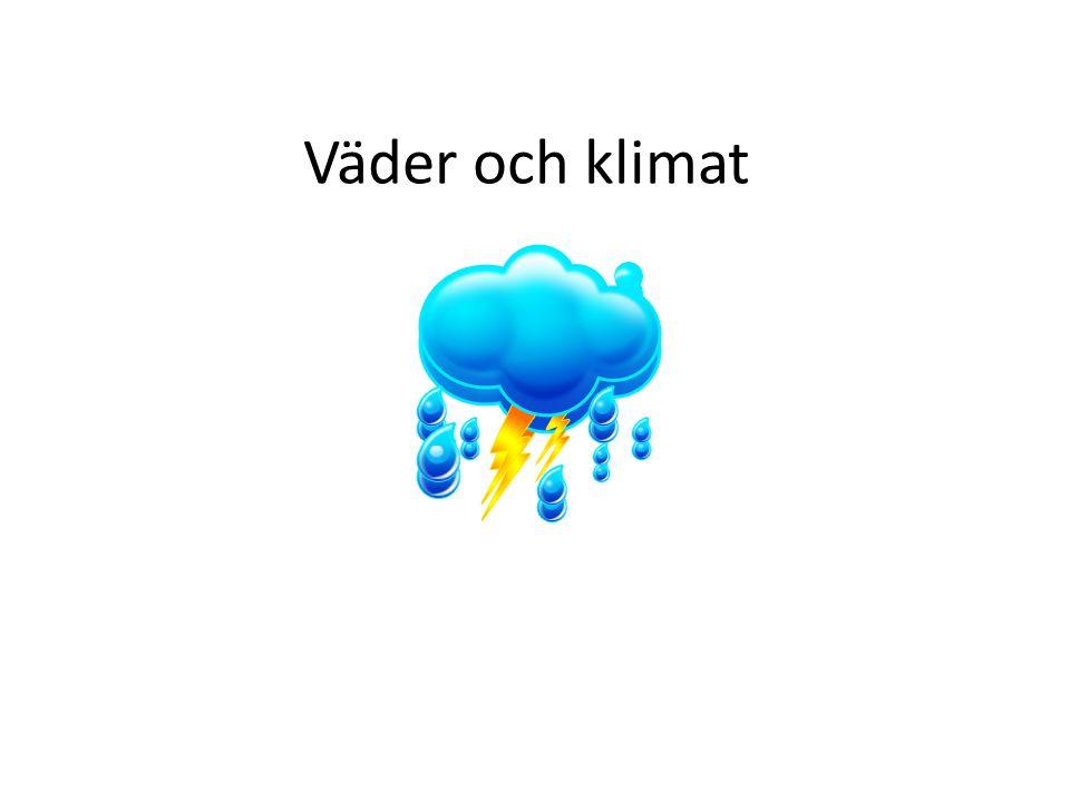 Väder och klimat