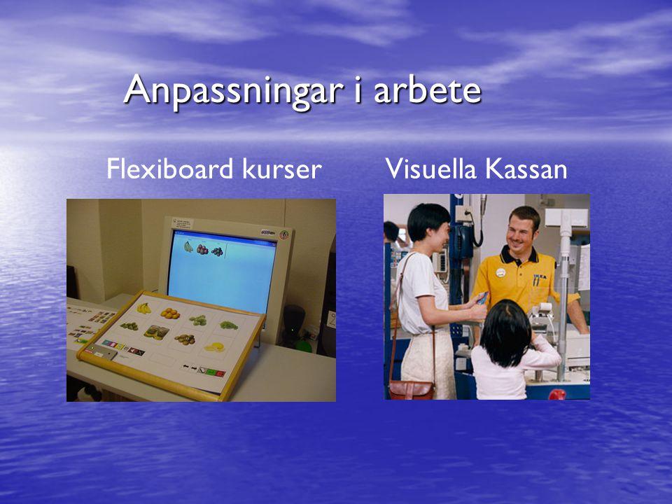 Anpassningar i arbete Flexiboard kurserVisuella Kassan
