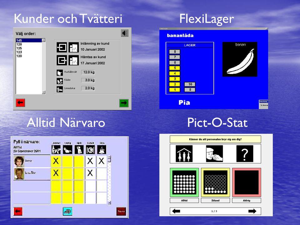 Kunder och TvätteriFlexiLager Alltid NärvaroPict-O-Stat