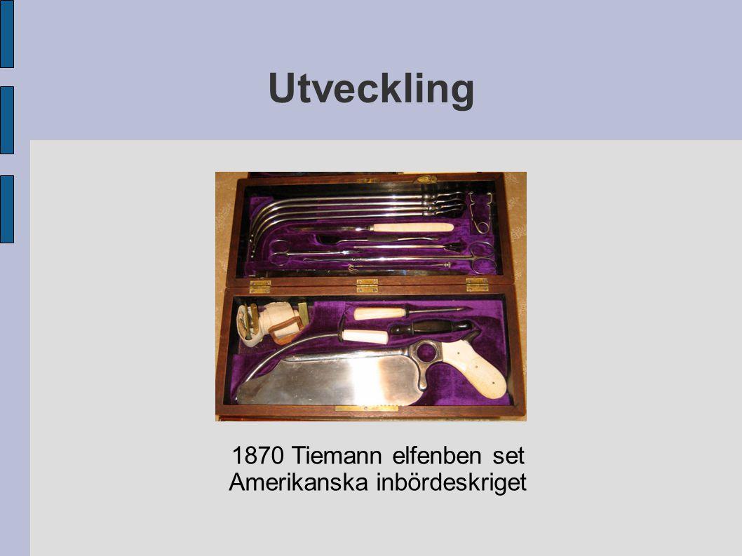 Utveckling 1870 Tiemann elfenben set Amerikanska inbördeskriget