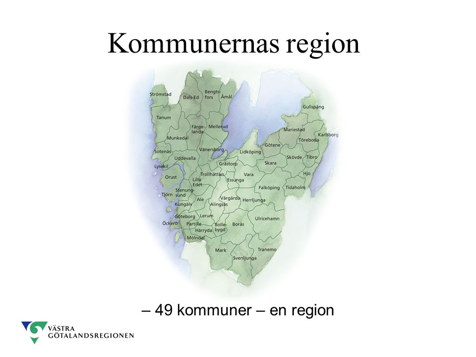 Kommunernas region – 49 kommuner – en region