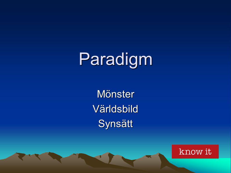 Paradigm MönsterVärldsbildSynsätt