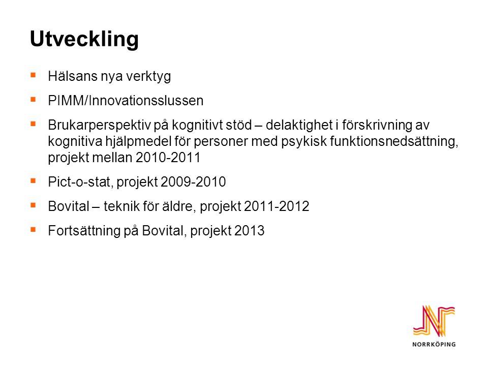 Fortsättning på Bovital 2013 Två delprojekt; 1.