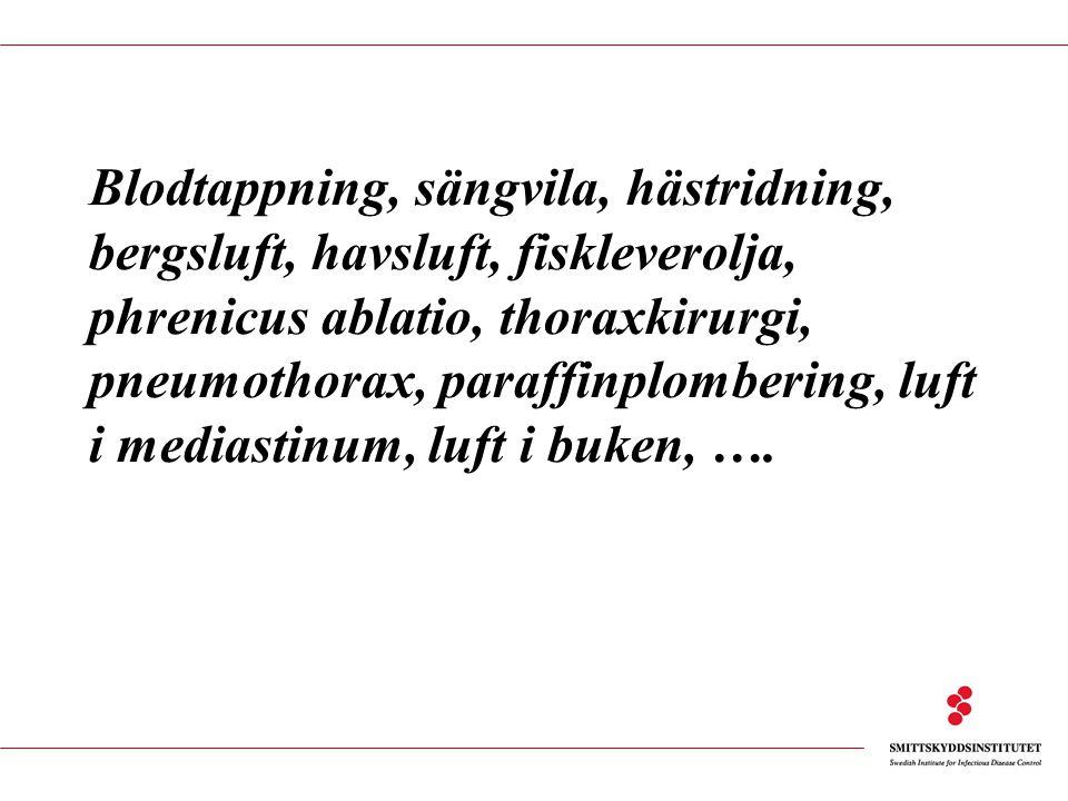 Epidemiologi-Sverige Victoria Romanus, Sven Hoffner, Karin Tegmark Wisell