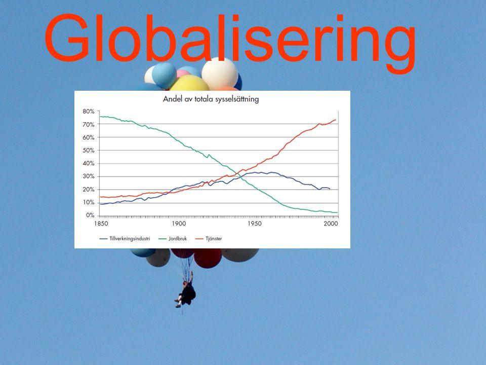 Vad säger trenderna.Fortsatt strukturomvandling i näringslivet med ett växande tjänsteinnehåll.