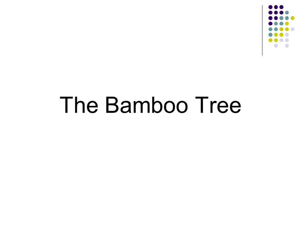 The Bamboo Tree