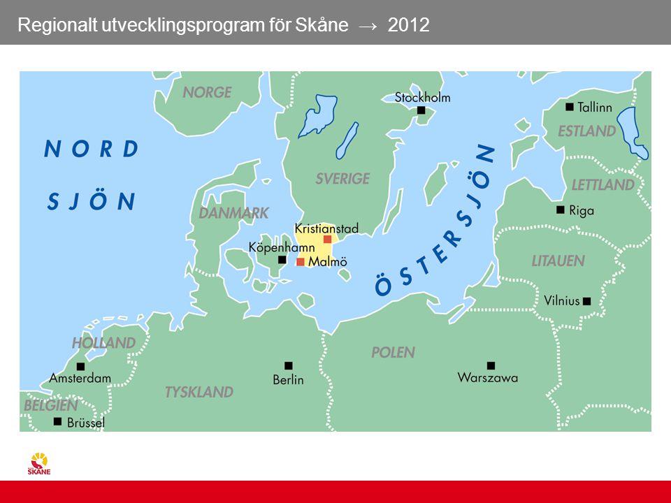 Regionalt utvecklingsprogram för Skåne → 2012