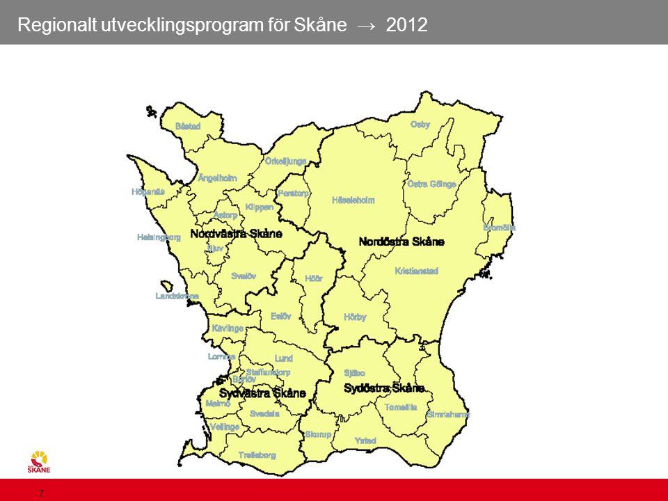 Regionalt utvecklingsprogram för Skåne → 2012 7 Skånes kommuner