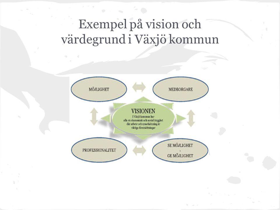 Exempel på vision och värdegrund i Växjö kommun