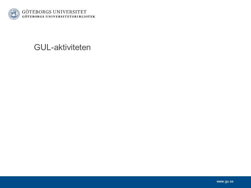 www.gu.se GUL-aktiviteten