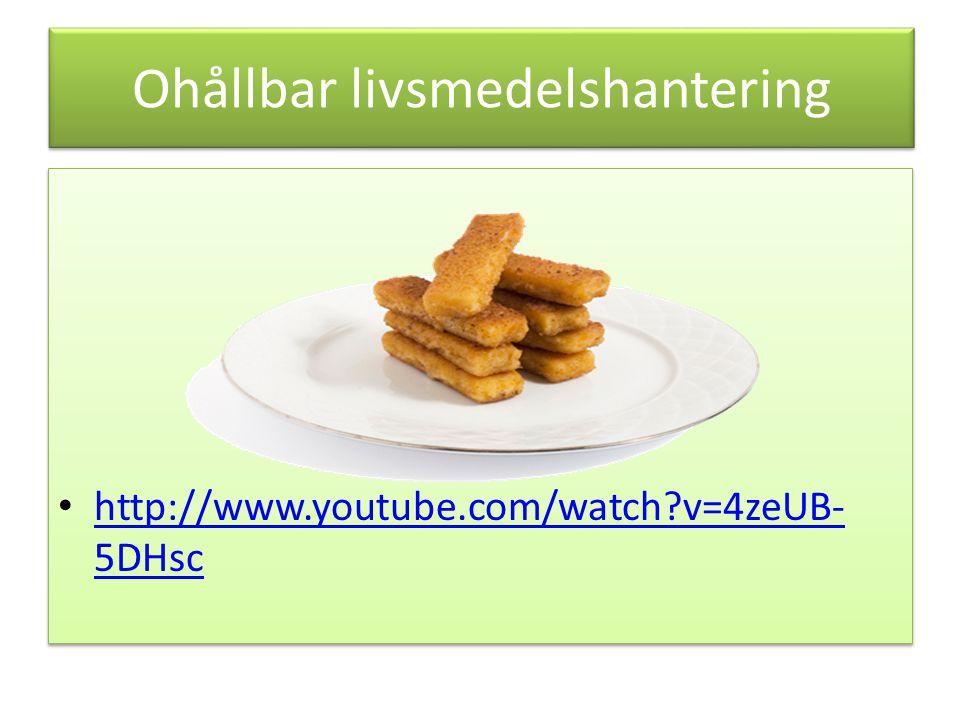 Ohållbar livsmedelshantering http://www.youtube.com/watch?v=4zeUB- 5DHsc http://www.youtube.com/watch?v=4zeUB- 5DHsc http://www.youtube.com/watch?v=4zeUB- 5DHsc http://www.youtube.com/watch?v=4zeUB- 5DHsc