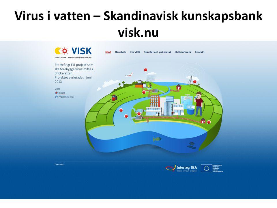 Virus i vatten – Skandinavisk kunskapsbank visk.nu