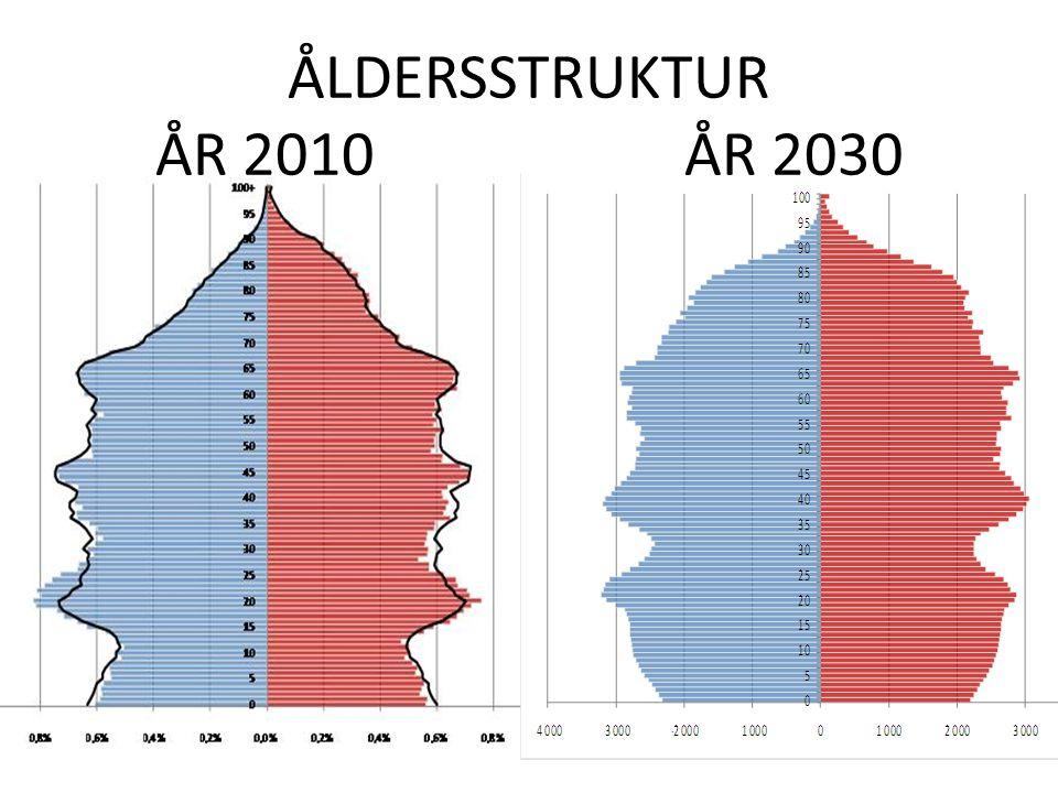ÅLDERSSTRUKTUR ÅR 2010ÅR 2030