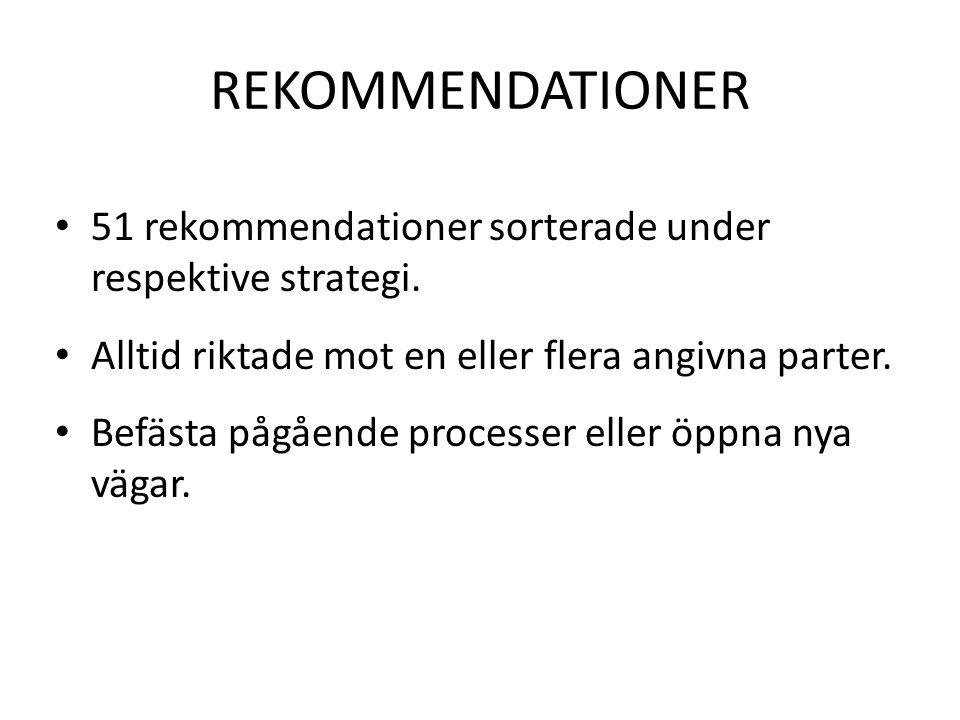 Rekommendationer: Stimulera ett dynamiskt företags och innovationsklimat i Östergötland Förbättrad basservice till näringslivet Fortsatt stöd till nyföretagande och entreprenörskap Ökad satsning på företag med tillväxtpotential oberoende av bransch.