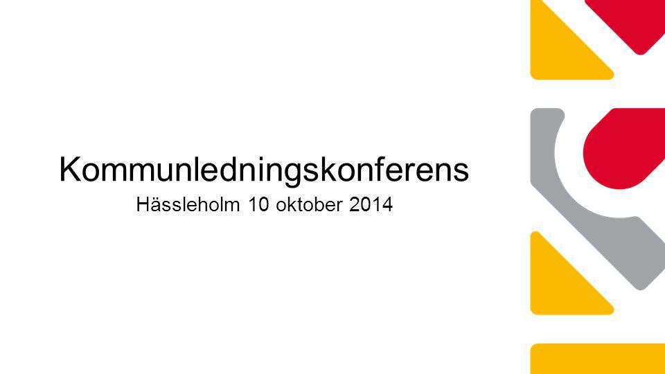 Kommunledningskonferens Hässleholm 10 oktober 2014