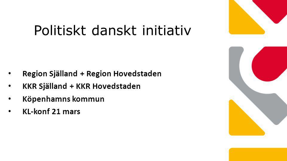 Politiskt danskt initiativ Region Själland + Region Hovedstaden KKR Själland + KKR Hovedstaden Köpenhamns kommun KL-konf 21 mars