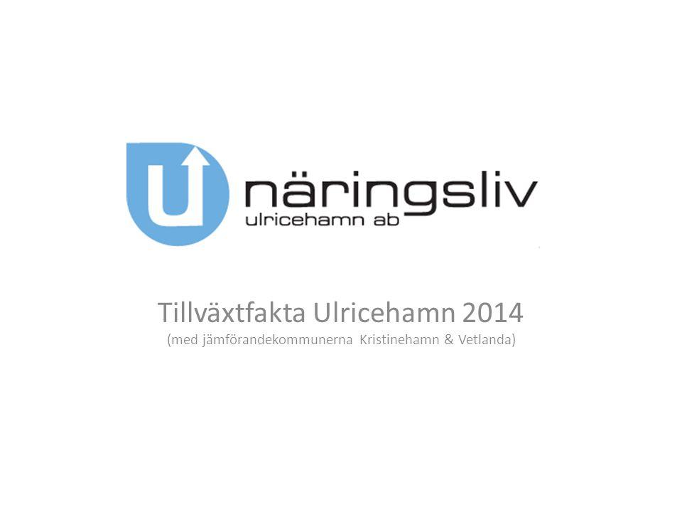 Tillväxtfakta Ulricehamn 2014 (med jämförandekommunerna Kristinehamn & Vetlanda)