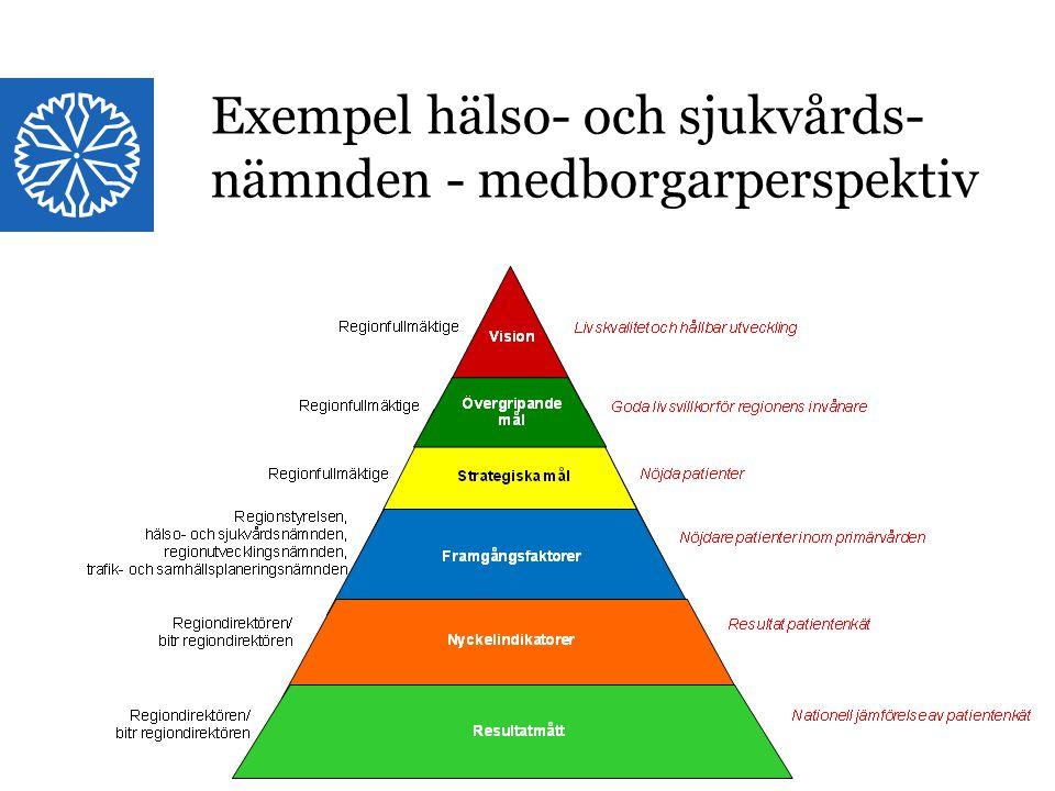 Landstinget i Östergötland Exempel hälso- och sjukvårdsnämnden Medborgarperspektivet Exempel hälso- och sjukvårds- nämnden - medborgarperspektiv