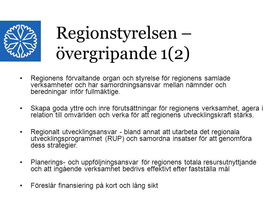 Landstinget i Östergötland Regionens förvaltande organ och styrelse för regionens samlade verksamheter och har samordningsansvar mellan nämnder och be