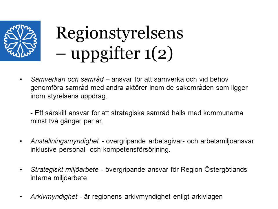 Landstinget i Östergötland Samverkan och samråd – ansvar för att samverka och vid behov genomföra samråd med andra aktörer inom de sakområden som ligg