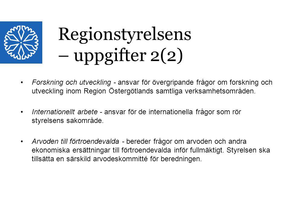 Landstinget i Östergötland Forskning och utveckling - ansvar för övergripande frågor om forskning och utveckling inom Region Östergötlands samtliga ve