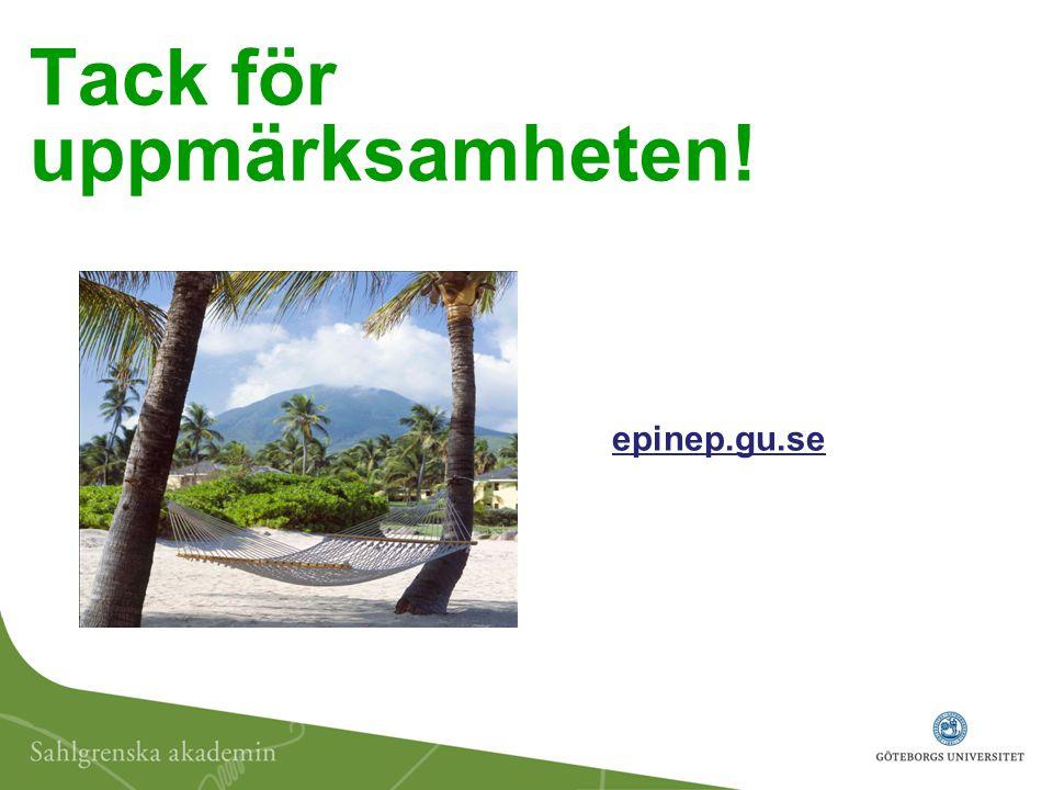 Tack för uppmärksamheten! epinep.gu.se