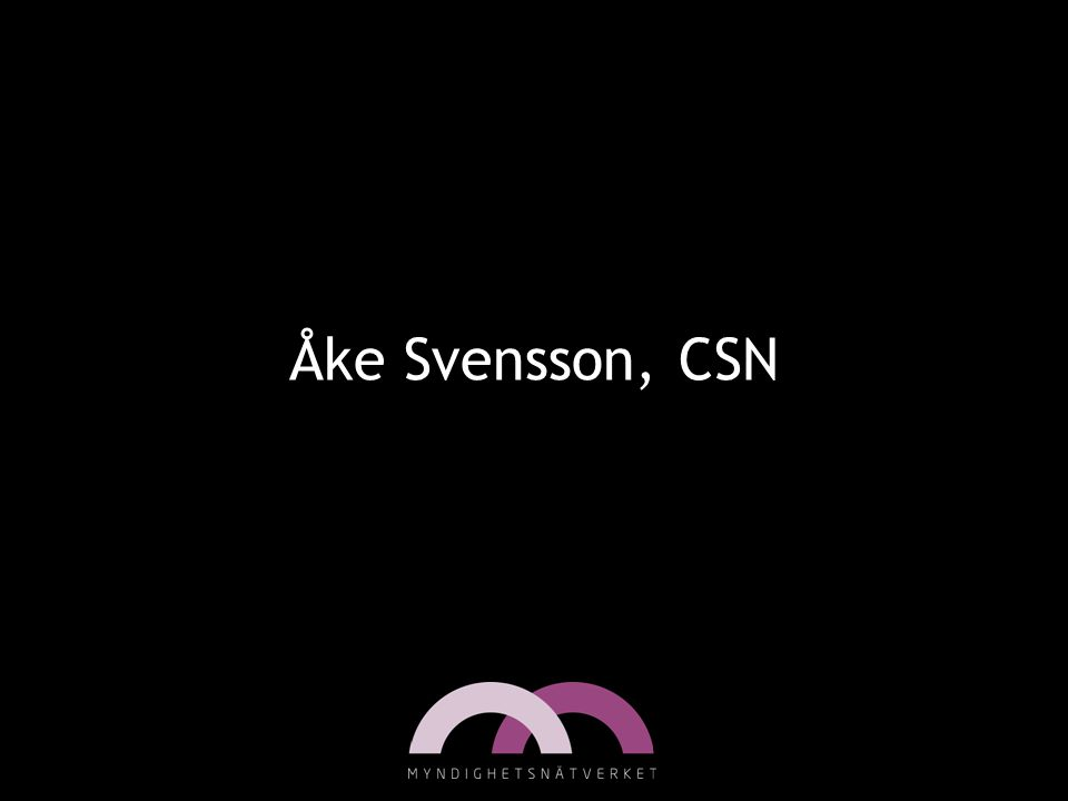 Åke Svensson, CSN