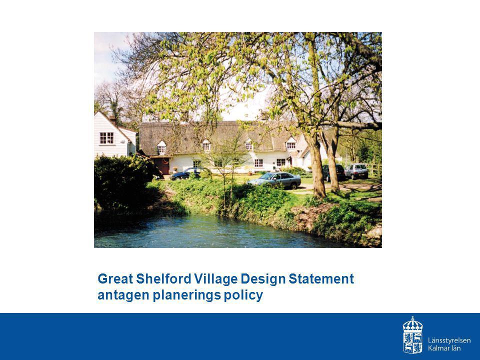 Great Shelford Village Design Statement antagen planerings policy