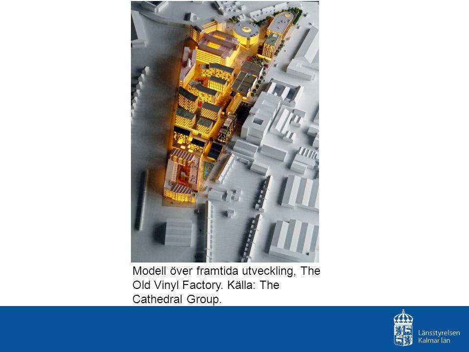 Modell över framtida utveckling, The Old Vinyl Factory. Källa: The Cathedral Group.